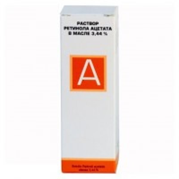 Ретинол ацетат флакон-капельницы 3.44% , 10 мл