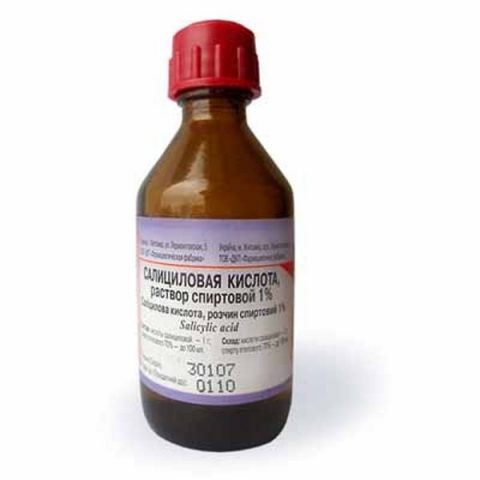 Салициловая кислота (Раствор Спиртовой 1%) 40 мл
