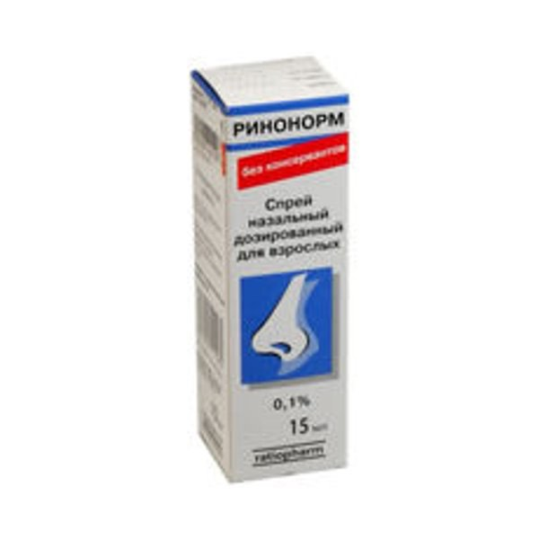 Ринонорм спрей д/носа д/взр. 0.1 % фл. 15 мл