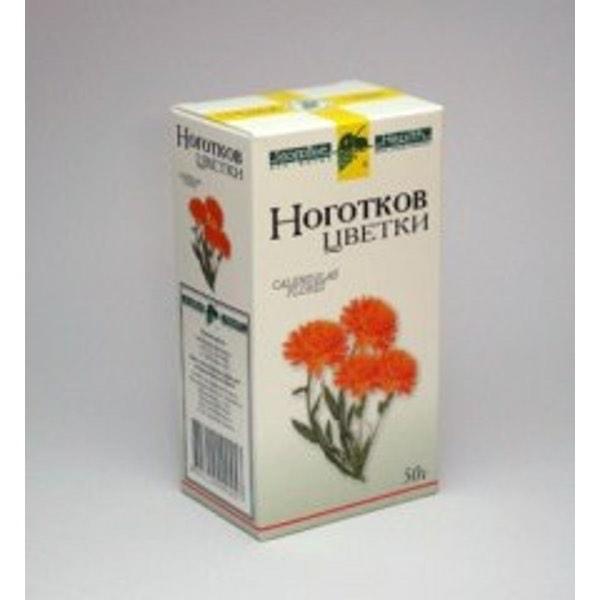 Ноготков цветки  50г Фирма «Здоровье»